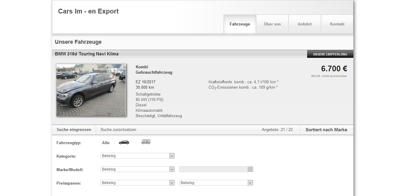 Cars Im – en Export Maastricht Ltd